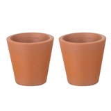 "A Pair of Small Tapered ""Terra-Cotta"" Planters"