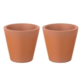 "A Pair of Medium Tapered ""Terra-Cotta"" Planters"