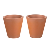 "A Pair of Large Tapered ""Terra-Cotta"" Planters"