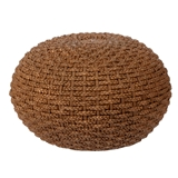Braided Wicker Ottoman