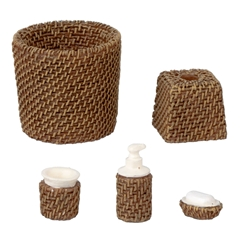 5-Pc. Wicker Bath Accessory Set