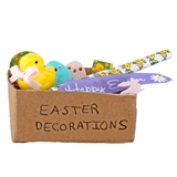 Box of Easter Decorations
