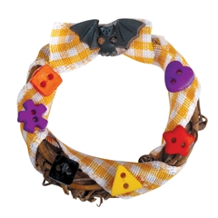 Candy and Bat Wreath