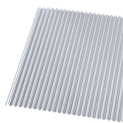 Five Small Corrugated Metal Sheets