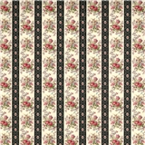 Claire Floral Stripe Wallpaper