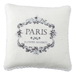 Paris Flower Market French Advertisement Pillow
