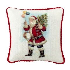 Santa with Tree Pillow