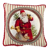 Santa with Stripes Pillow