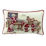 Santa Babies in Workshop Pillow
