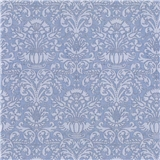 Blue Annabelle Damask Wallpaper