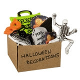 Box of Halloween Decorations