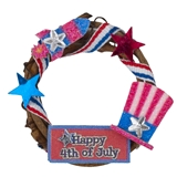 """Happy 4th of July"" Wreath"