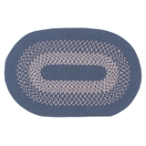 Medium Blue Braided-Look Rug