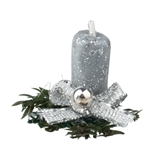 Silver Sparkle Candle