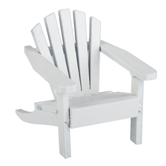 White Mini Adirondack Chair