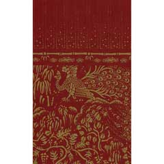 Gold Peacocks on Red Wallpaper