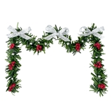 Red and Silver Fireplace Garland