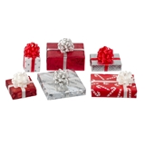 6-Pc. Red, White and Silver Wrapped Gift Set