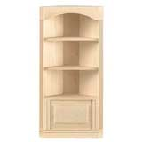 Three-Shelf Corner Bookcase