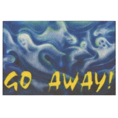 "Ghostly ""Go Away"" Mat"