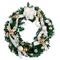 White and Gold Christmas Wreath