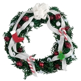 Red and White Sweets Christmas Wreath