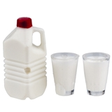 Three Piece White Milk Set