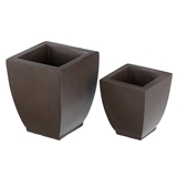 Pair of Tapered Square Planters