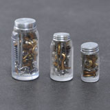 3-Pc. Nuts and Bolts Jar Set