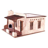 The Adobe Room & Patio Dollhouse Kit