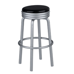 Black Retro Diner Stool