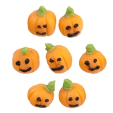 Six Tiny Jack-O'-Lanterns