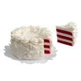 Sliced Red Velvet Cake