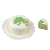 Sliced Shamrock Cake