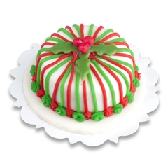 Striped Christmas Cake
