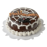Chocolate Spiderweb Cake
