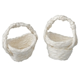 A Pair of White Straw Baskets