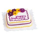 "Colorful Daisies ""Happy Birthday"" Sheetcake"