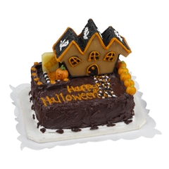 Spooky Mansion Sheet Cake