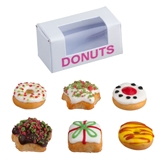 6 Christmas Donuts and Box