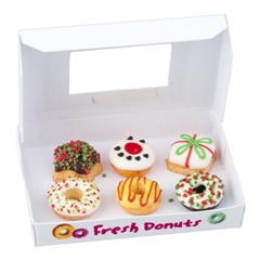 6 Christmas Donuts with Box
