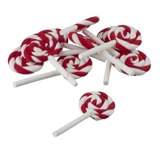 10 Candy Cane Lollipops