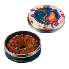 Fruitcake in Seasonal Tin