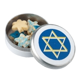 Star of David Cookies in Tin