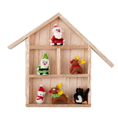 North Pole Figurines in Shadowbox