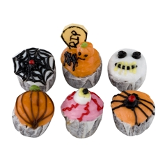 Six Assorted Halloween Cupcakes