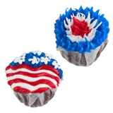 A Pair of Patriotic Cupcakes