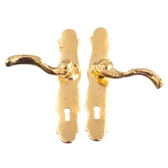 Pair of Gold French Door Handles