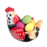 Rooster Bowl with Easter Eggs