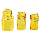 3-Pc. Amber Canister Set